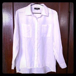 DKNY Linen Button Down Shirt